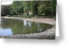 Pond In The Fall Greeting Card
