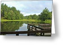 Pond In The Park Greeting Card
