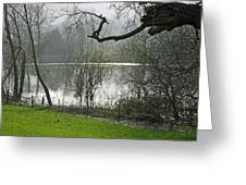 Pond Near Home Farm - Ilam Greeting Card