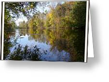 Pond Reflection At Limehouse Ontario Greeting Card
