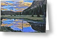 Pondering Reflections Greeting Card by David Kehrli