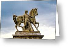 Pont D' Lena Bridge Statue  Greeting Card