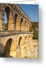 Pont Du Gard Roman Aquaduct Languedoc-roussillon France Greeting Card by Colin and Linda McKie