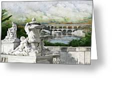 Pont Du Gard Roman Aqueduct Greeting Card