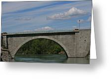 Pont La Javie  South France Greeting Card