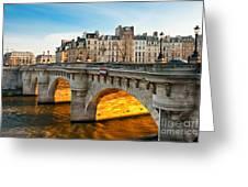 Pont Neu - Paris  Greeting Card