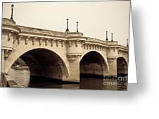 Pont Neuf Greeting Card