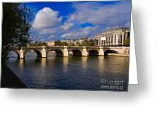 Pont Neuf Over The Seine River Paris Greeting Card