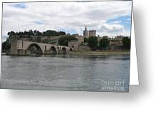 Pont Saint Benezet And Pope Palace Greeting Card