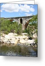 Pont St. Julien And River Greeting Card
