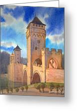 Pont Volontre Cahors France Greeting Card