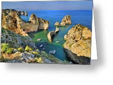Ponta De Piedade Coast II Greeting Card