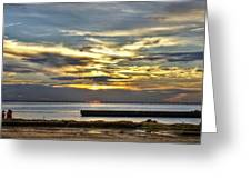 Pontchartrain Sunset Greeting Card