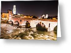 Ponte Pietra Verona In Italy Greeting Card