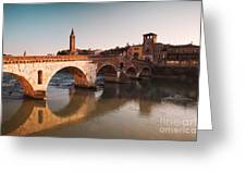 Ponte Pietra - Verona Greeting Card