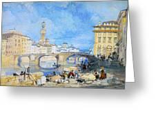 Ponte Santa Trinitia Florence Greeting Card