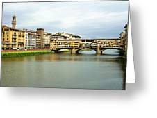 Ponte Vecchio 1 Greeting Card by Ellen Henneke