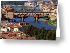 Ponte Vecchio And Arno River Greeting Card