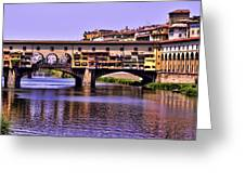 Ponte Vecchio Bridge - Florence Greeting Card