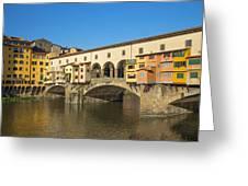 Ponte Vecchio Bridge In Florence Greeting Card