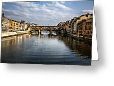 Ponte Vecchio Greeting Card by Dave Bowman