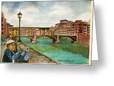 Ponte Vecchio Florence Italy Greeting Card
