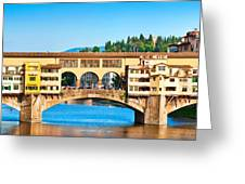 Ponte Vecchio In Florence Greeting Card