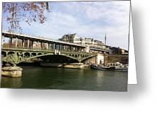 ponte verde a Parigi Greeting Card