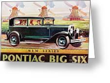 Pontiac Big Six - Poster Greeting Card