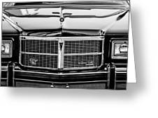 Pontiac Grand Ville Grille -0332bw Greeting Card