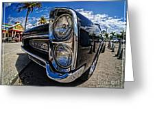 Pontiac Gto Convertible Ft Myers Beach Florida Greeting Card by Edward Fielding