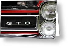 Pontiac Gto Front Greeting Card
