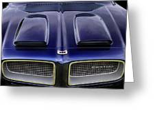Pontiac Hood Greeting Card