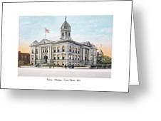 Pontiac Michigan - Ponitiac Court House - 1910 Greeting Card