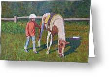 Pony Greeting Card by Terry Perham