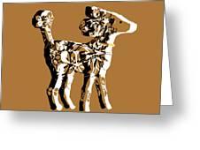 Poodle Print Art Greeting Card