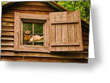 Pooh In The Attic Greeting Card