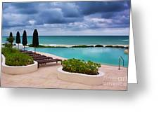 Pool At Rosewood Mayakoba Greeting Card