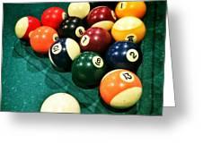 Pool Balls Greeting Card by Carlos Caetano