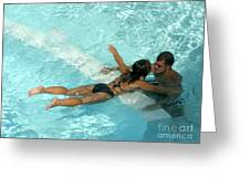 Pool Couple 9717b Greeting Card