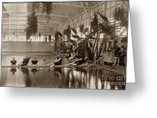 Pool In The Del Monte Bath House Monterey Circa 1885 Greeting Card