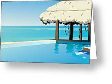 Pool On The Ocean Greeting Card