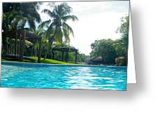 Pool Panorama Greeting Card