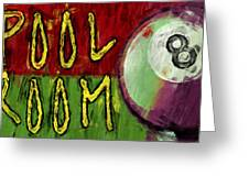 Pool Room Sign Abstract Greeting Card