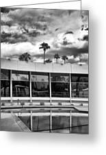 Pool Storm Palm Springs Greeting Card