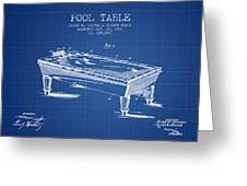 Pool Table Patent From 1901 - Blueprint Greeting Card