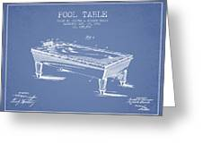 Pool Table Patent From 1901 - Light Blue Greeting Card