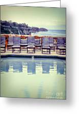 Pool With Views Of The Ocean Greeting Card