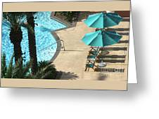 Pooldeck1145b Greeting Card