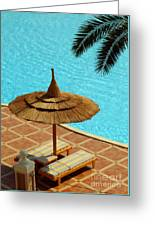 Poolside Relaxation Greeting Card